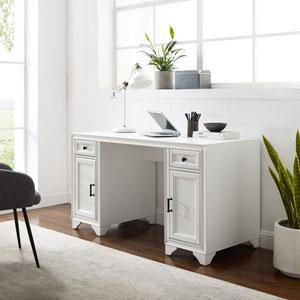 Tara Distressed White Desk