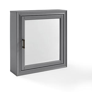 Tara Grey Birch Veneer Bath Mirror Cabinet