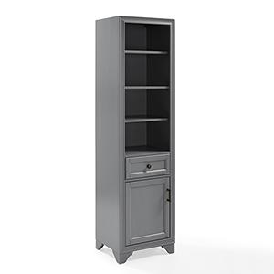 Tara Grey Birch Veneer Linen Cabinet
