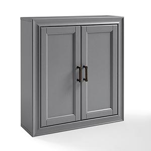 Tara Grey Birch Veneer Bath Wall Cabinet
