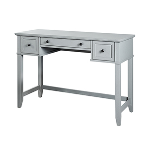 Vista Grey Solid Hardwood and Veneer Vanity Table