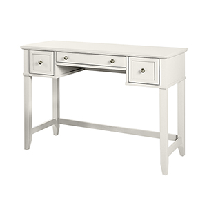 Vista White Solid Hardwood and Veneer Vanity Table
