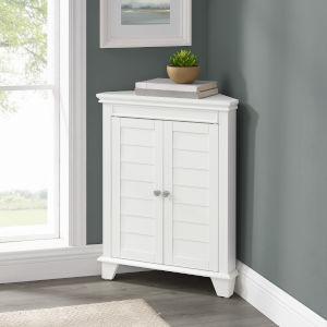 Lydia White Corner Bath Cabinet