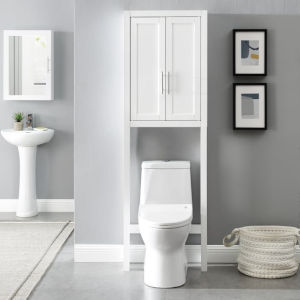 Savannah White Space Saver Bath Wall Cabinet