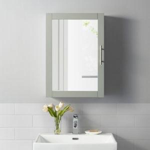 Savannah Gray Mirrored Wall Cabinet