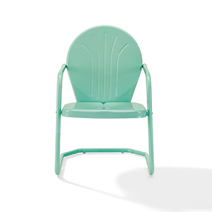 Griffith Aqua Steel Outdoor Chair