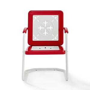 Azalea Red Metal Outdoor Chair