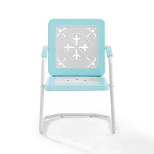 Azalea Turquoise Metal Outdoor Chair