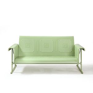 Veranda Green Powder Coated Steel Sofa Glider