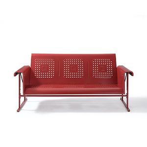 Veranda Red Powder Coated Steel Sofa Glider