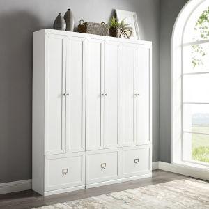 Harper White Pantry Closet, 3-Piece