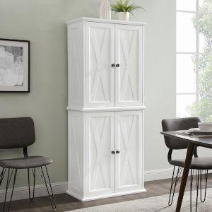 Clifton Distressed White Tall Kitchen Pantry