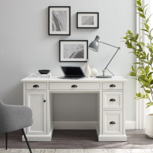 Shoreline White Computer Desk
