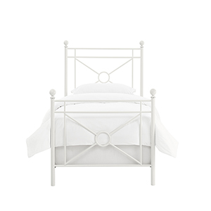 Montgomery White Metal Twin Bedset
