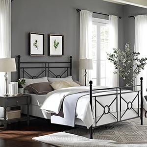 Montgomery Black Steel Queen Bed
