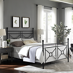 Montgomery Black Steel King Bedset