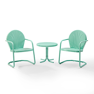 Griffith Aqua 3 Piece Outdoor Seating Set