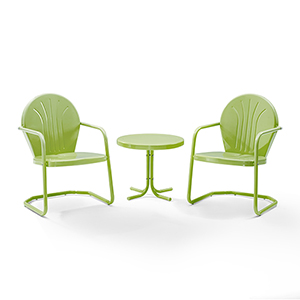Griffith Key Lime 3 Piece Outdoor Seating Set
