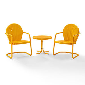 Griffith Tangerine 3 Piece Outdoor Seating Set