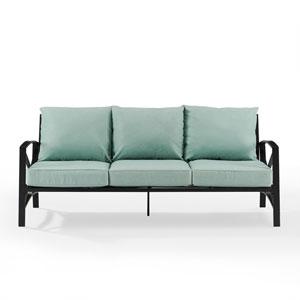 Kaplan Oil Rubbed Bronze and Mist Outdoor Metal Sofa