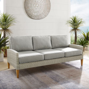 Capella Gray Outdoor Wicker Sofa