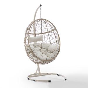 Cleo Brown Outdoor Wicker Hanging Egg Chair