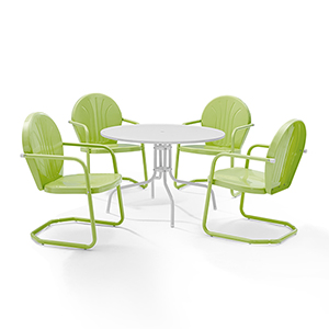 Griffith Key Lime Five Piece Outdoor Dining Set