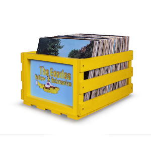 Beatles Yellow 14-Inch Record Storage Crate