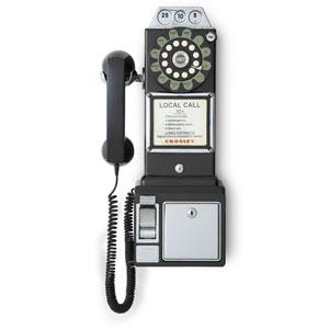 1950s Black Payphone