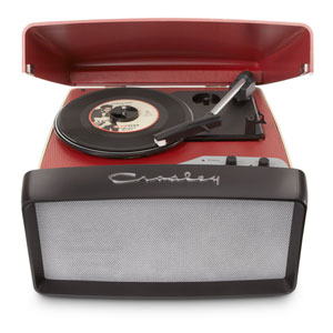 Collegiate Portable USB Turntable, Red