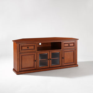 60 Inch Corner TV Stand in Classic Cherry