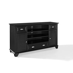 Palmetto Black 60-Inch Full Size TV Stand