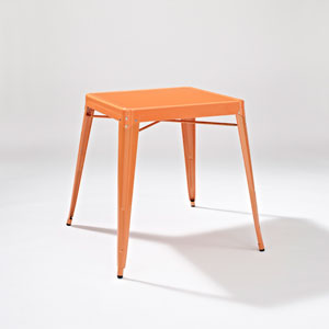 Amelia Metal Cafe Table in Orange