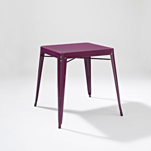 Amelia Metal Cafe Table in Purple
