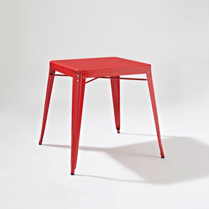Amelia Metal Cafe Table in Red