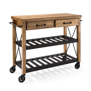 Roots Rack Natural Industrial Kitchen Cart