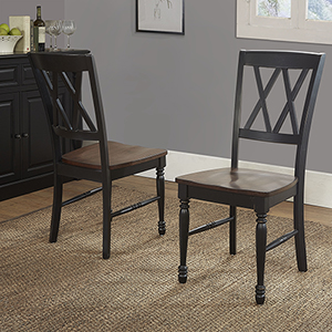 Shelby Dining Chair Set Of 2 in Black Finish