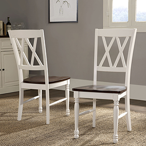 Shelby Dining Chair in White Finish- Set Of Two