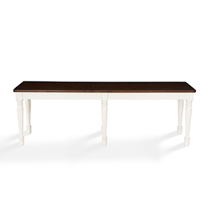 Shelby Dining Bench in White