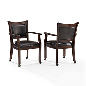 Reynolds Game Chair in Rustic Mahogany-  Set of 2