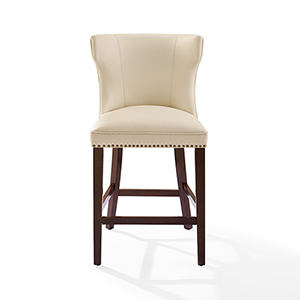 Tilson Counter Stool in Mahogany With Creme Cushion