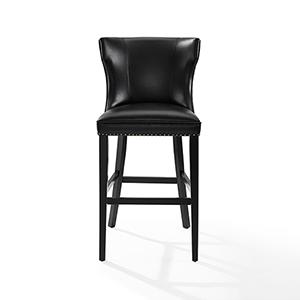 Tilson Bar Stool in Black With Black Cushion