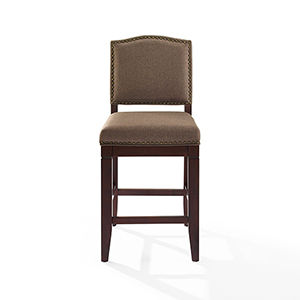 Bryson Counter Stool in Espresso With Bourbon Cushion