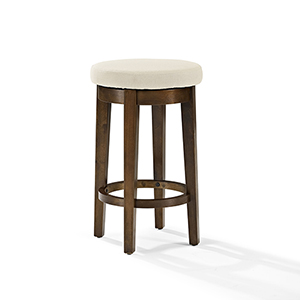Mitchell Swivel Counter Stool in Mahogany With Creme Cushion Set Of 2