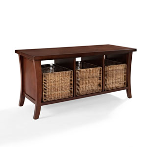 Wallis Mahogany Entryway Storage Bench
