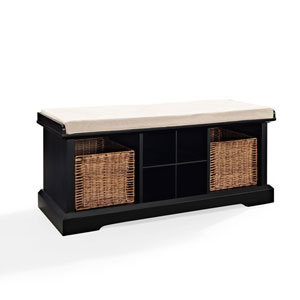 Brennan Black Entryway Storage Bench
