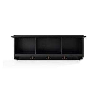 Brennan Black Entryway Storage Shelf