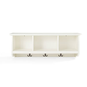 Brennan White Entryway Storage Shelf