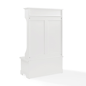 Campbell Hall Tree in White Finish