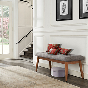 Landon Upholstered Bench in Acorn